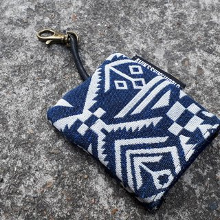 AMIN'S SHINY WORLD Handmade ethnic wind rough knit key bag 06