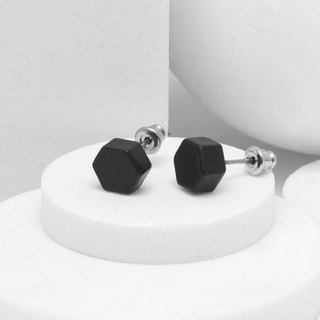 Recovery Hex Earrings (Fog Black)