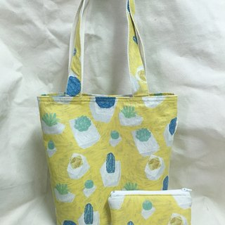 Yellow Succulent Tote Bag
