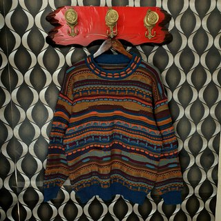 Little Turtle Gege - Japan - Three-dimensional Striped Knit Vintage Sweater