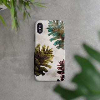 colors Pine cones iphone case สำหรับ iphone7 iphone 8, iphone 8 plus ,iphone x