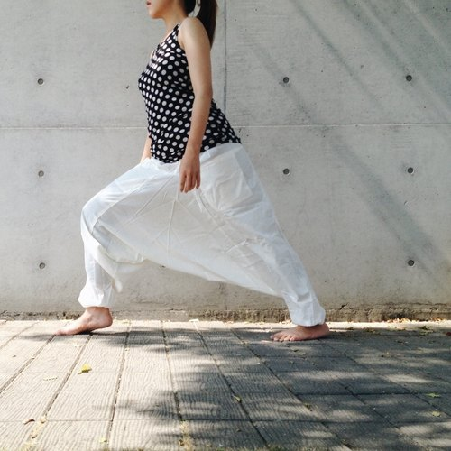 [Travel x India] Basic / Alibaba pants (plain white cotton candy) (cotton) (neutral) (Alibaba pants)