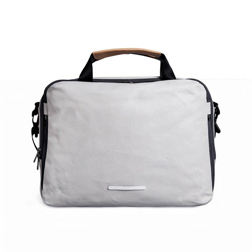 RAWROW | Canvas Series-13-inch three-use simple casual bag (portable / shoulder / side) - rice gray -RBF120GY