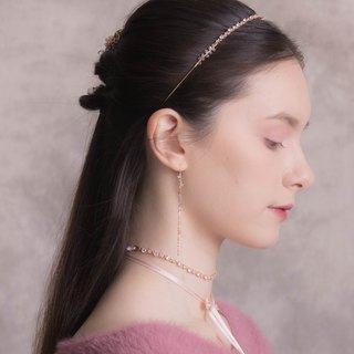 BLOSSOM CZ Rose-gold Plated Headband