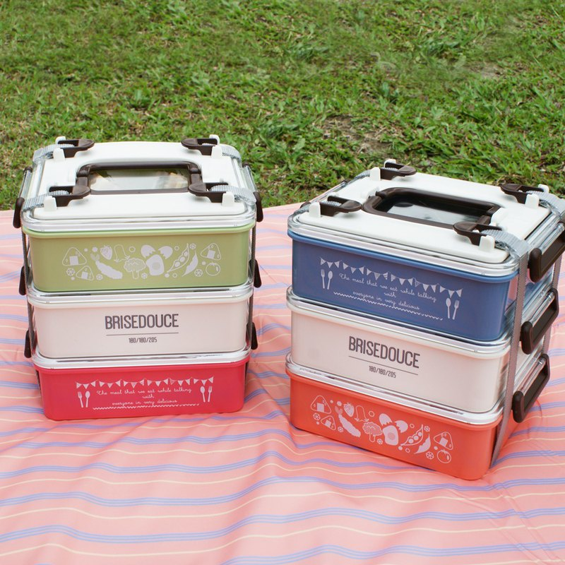 [DESTINO STYLE] Japan B/D three-tier combination picnic box company goods made in Japan