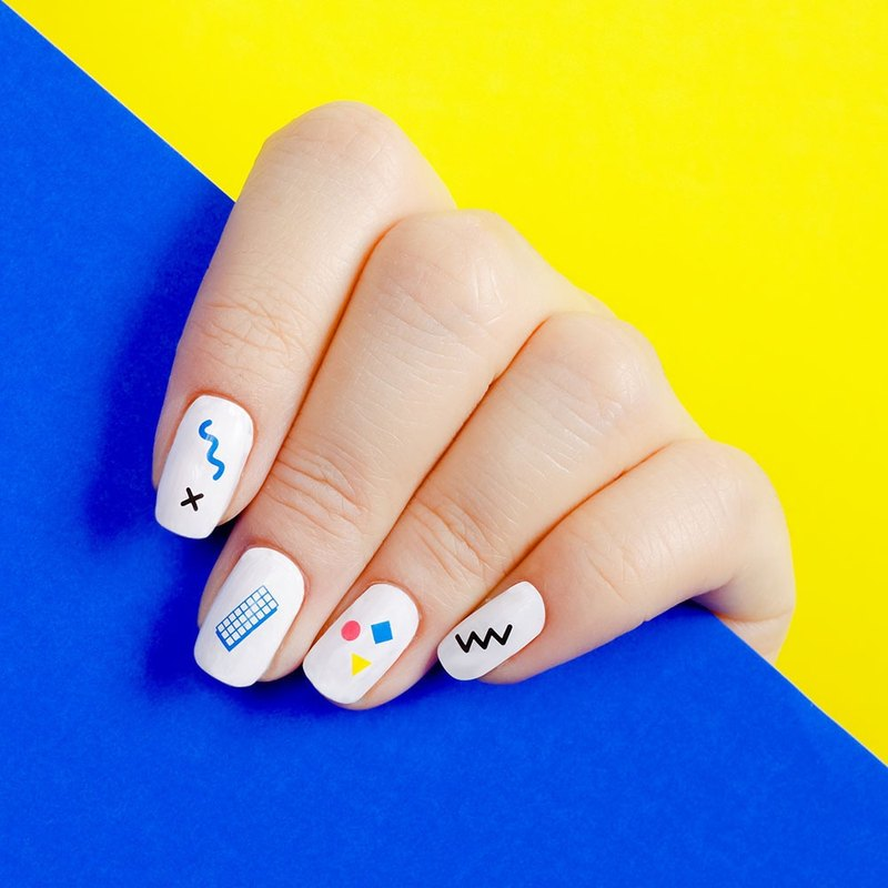 Surprise Tattoos / Geometry Nail Tattoo Sticker