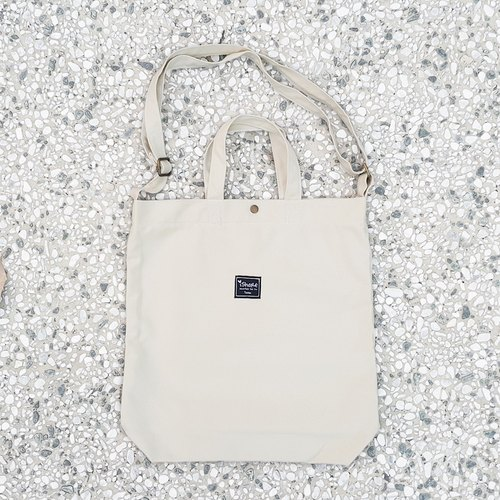 iShare ☛ handmade bag with three color 8K tote bag - beige (portable oblique shoulder tutorial / book / messenger bags)