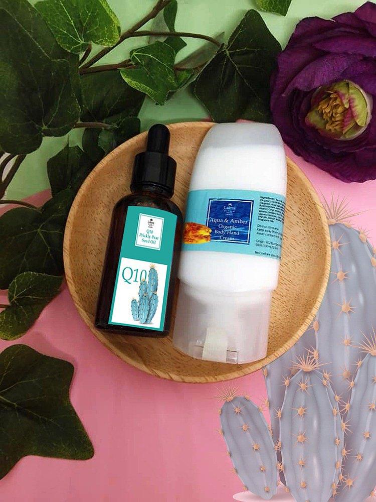 (抗老保濕套裝) 仙人掌輔酶Q10精華配水泉潤膚霜