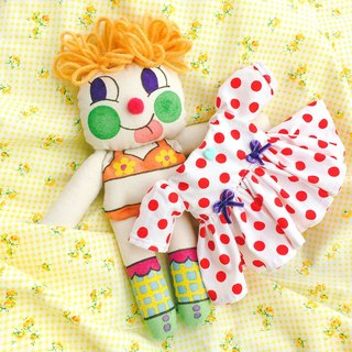Original hand-painted doll, yellow hair joint, can be worn with a small skirt