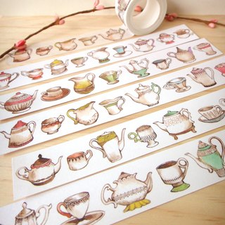 Maccaron series - teapot cup paper tape