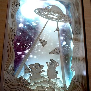 Exclusive Order - | Light and Shadow Story | Paper Carved Night Light | Special Order | Pizza Spaceship |