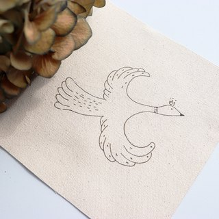 Sample bird illustration embroidery material package