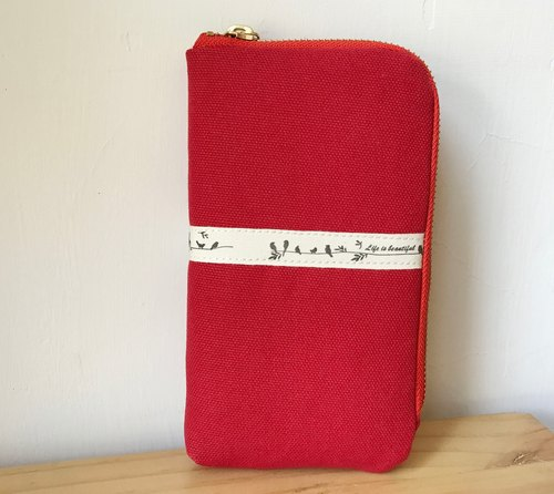 Hand iPhone bag, mobile phone bag, zipper phone bag, zipper bag, carry bag