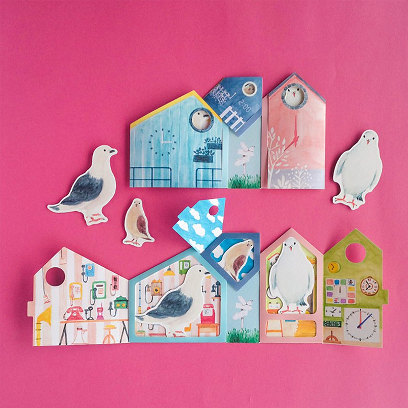 Greeting card/Cuckoo clock