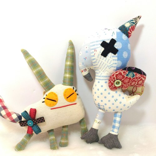 Horned birds ~ Mia handmade doll