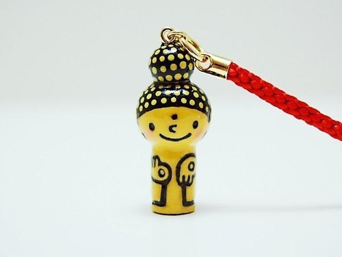 mini Kokeshi * Amitabha customers * strap * smiling [2]