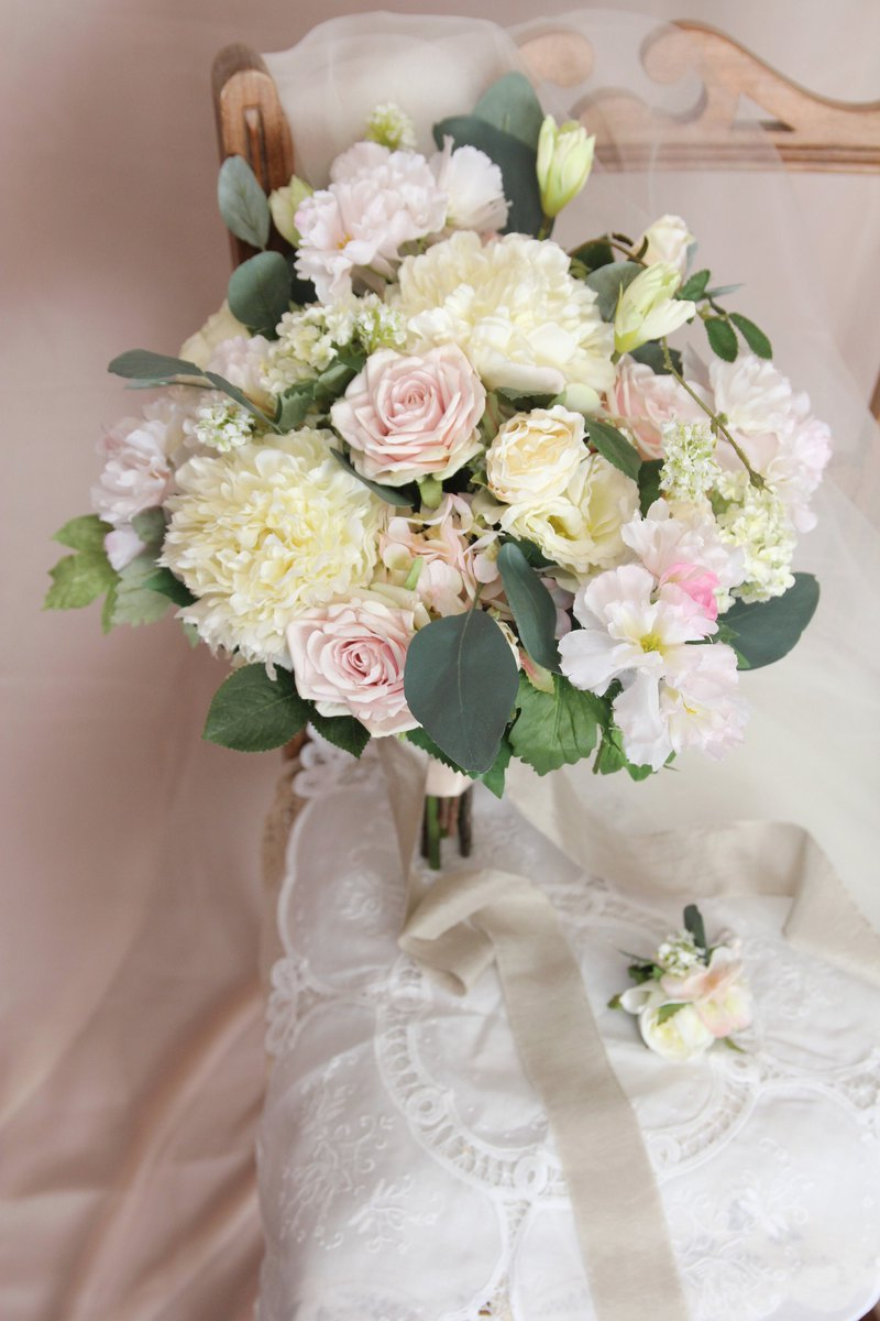 Bridal Bouquet Artificial Bouquet Silk Flower Bouquet Wedding Peony Shop In My Mind Dried Flowers Bouquets Pinkoi