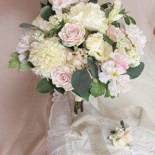 Bridal bouquet  ,Artificial Bouquet ,silk flower bouquet , Wedding ,Peony