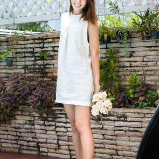 Amy Linen Dress (White)