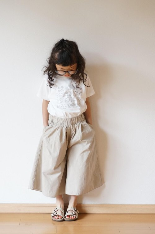 Cotton typewriter wide pants 110,120