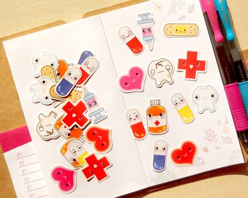 Medical Stickers [30 Pieces] - Planner Stickers - Stickers for Planner