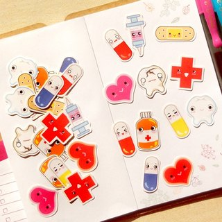 Medical Stickers - 30 Pieces - Planner Stickers - Stickers for Planner