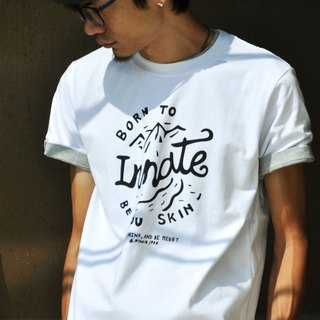 [] Mountain INNATE short Tee - White