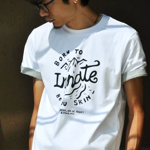 【 INNATE 】Mountain 短 Tee - 白色