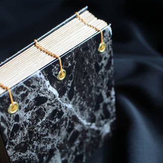 Marble pattern Japanese kraft hardcover hand-sewn notebook