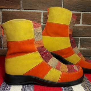 Peruvian style booties -25cm - warm red