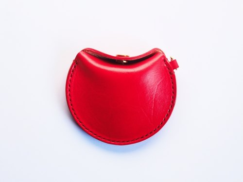 【Cottage One Field】 Retro Italian Imported Vegetable Leather Wallet | Flame Red | Gift | Carrying Bag