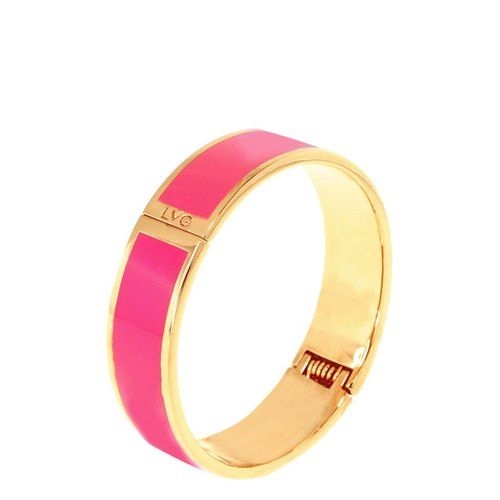 Solid color pink filigree enamel series solid color bracelet (gold) -11,500,159,003