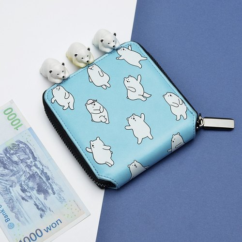 KIITOS LIFE animal series leather wallet a short paragraph - paragraph polar bear # # fast arrival
