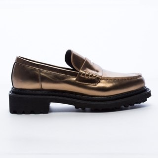 Saint Landry [design] metallic leather loafers - bronze gold