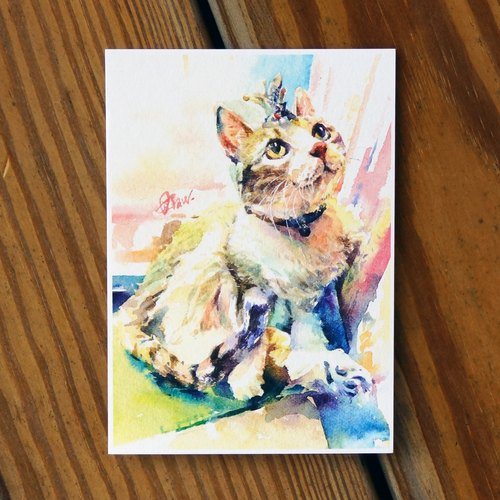 Water hairy child painting series Postcards <Princess gift laughing>