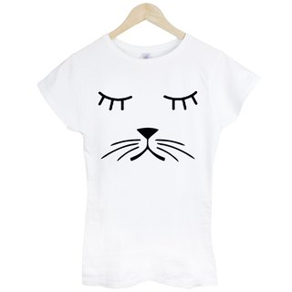 Whiskers Cat Girls T-shirt -2 color beard canine dogs and cats Wen Qing art design fashion fashionable word