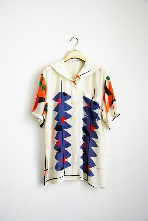 Ancient print short sleeve shirt