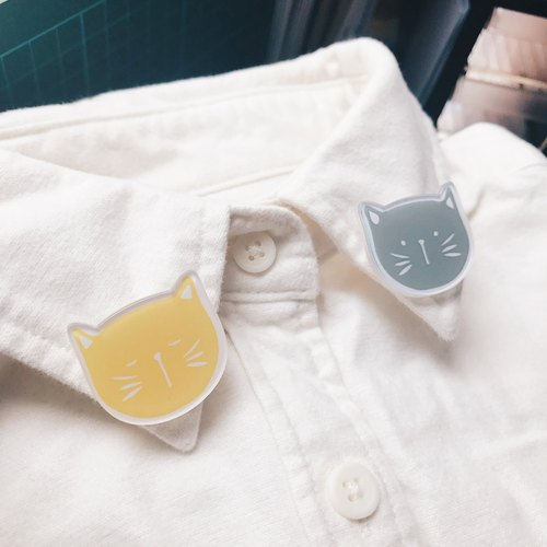 [Mini] cat pin | brooches | pintle | set four