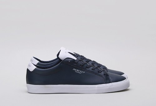 Make up the difference - Swedish designer footwear brand [JIM RICKEY] Leather retro shoes blue / white CHOP NAVY / WHITE