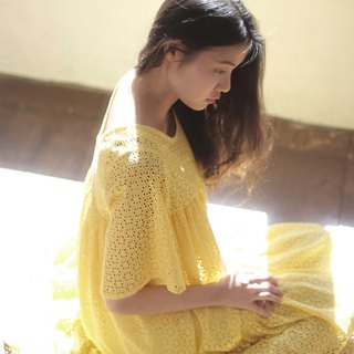 | chacha.metyou / You are my little sun long dress / with dog hairy kids |