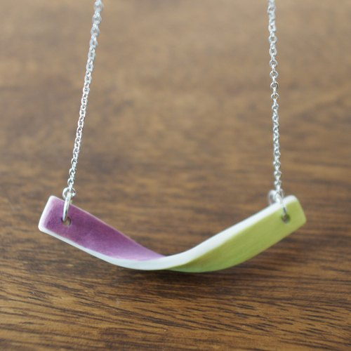 White porcelain necklace / pendant