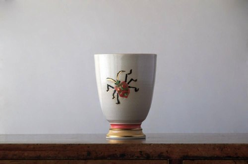 "Goblet ""Bug and Flower"""