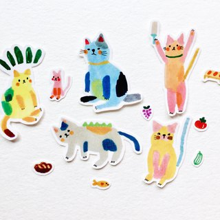 Kindergarten Mishima cat sticker set
