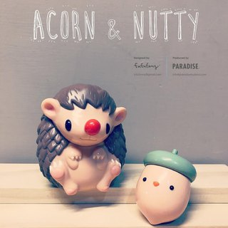 Acorn & Nutty - Original - Art Toy Hedgehog