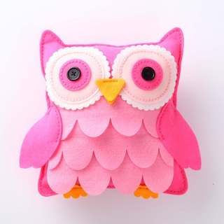 Fairy Land [Material Pack] Owl Pillow - Pink