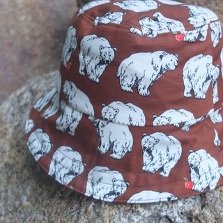 Reversible bucket hat -Apple of polar bear eye  s-m