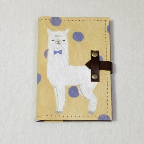 Handmade Japanese paper card case <alpaca × dot>