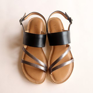 [Triad] full leather sandals - black