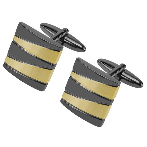 Gunmetal and Gold Mixed Pattern Cufflinks