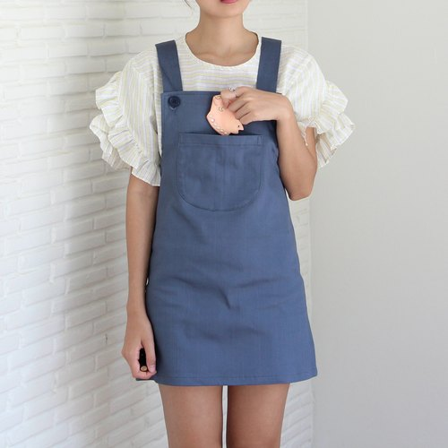 Suri Pini Dress (blue-grey)